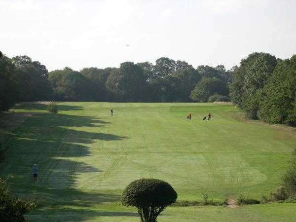 A view of fairway #6 at Woodford Golf Club