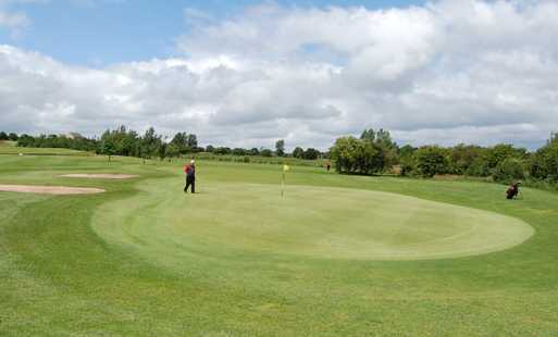 A view of the 2nd green at Great Lever & Farnworth Golf Club