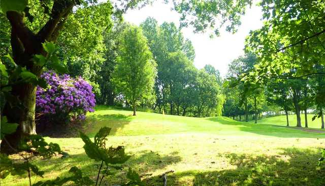 A sunny view of green at Prestwich Golf Club