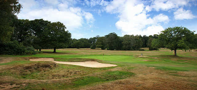A view of the 14th green at Stoneham Golf Club