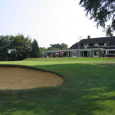A view of the clubhouse at Canterbury Golf Club
