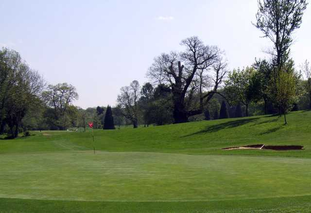 A view of green #2 at Hurricane Course from West Malling Golf Club