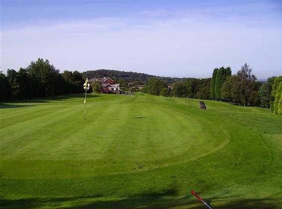 A view of green #1 at Blackburn Golf Club