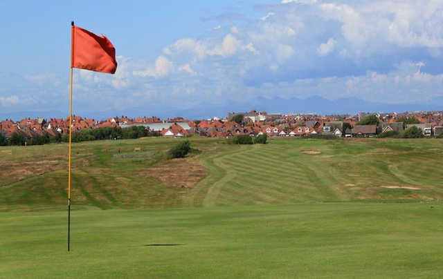 A view from the 18th hole at Blackpool North Shore Golf Club