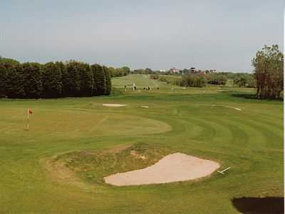 A view of the 18th green at Stanley Park Course from Blackpool Park Golf Club