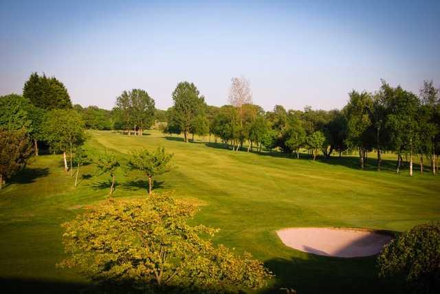 A view of fairway #2 at Leyland Golf Club