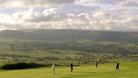 A view of a green at Longridge Golf Club