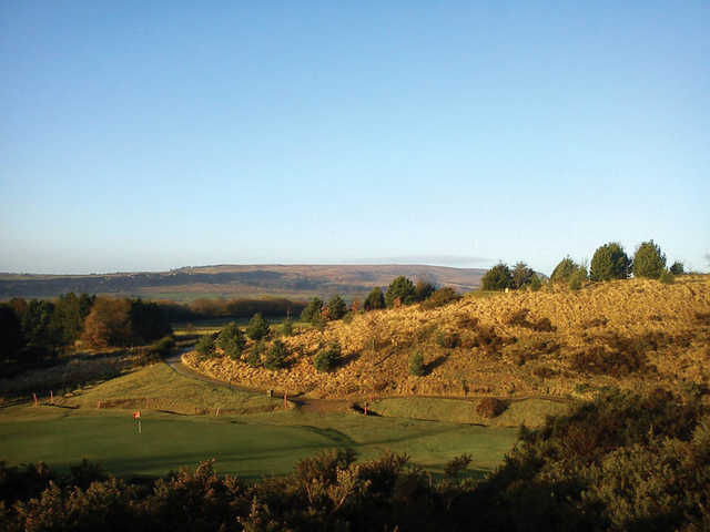 A view of a green at Turton Golf Club