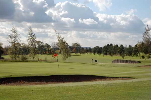 A view of green #16 at Melton Mowbray Golf Club