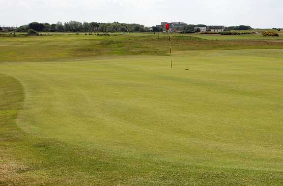 A view of green #16 at Leasowe Golf Club
