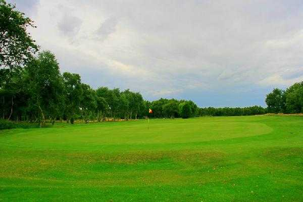 A view of green #4 at Southport Old Links Golf Club