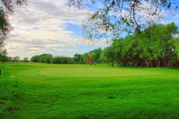 A view of the 1st hole at Southport Old Links Golf Club