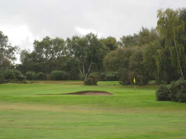 Bunker lined green at the Wirral Golf Club