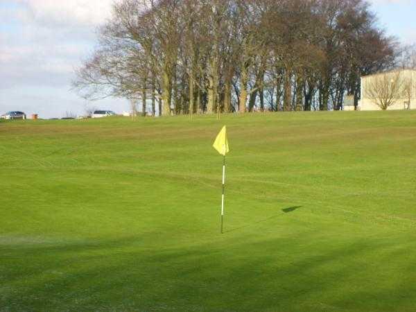 A view of hole #2 at Richmond Golf Club
