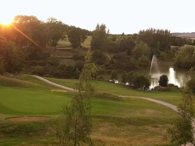 A sunny view of a hole at Hellidon Lakes Golf & Spa Hotel