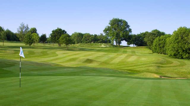 A view of green #2 at Bath Golf Club