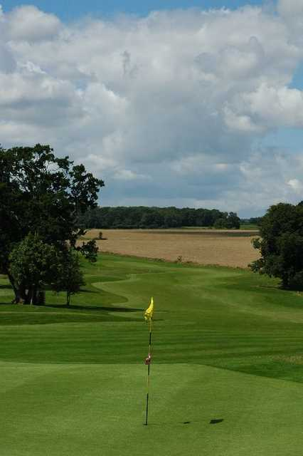 A view of green #9 at Orchardleigh Golf Club