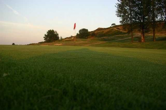 A view of the 15th green at Stocksbridge & District Golf Club