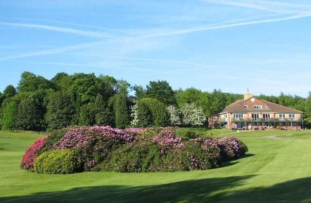 A view of the clubhouse at Tankersley Park Golf Club