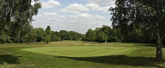 A greenside view of the 1st hole at Epsom