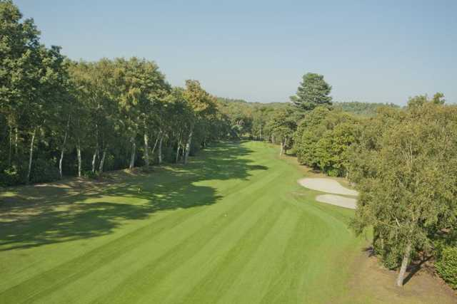 A view of fairway #6 at Silvermere Golf Club