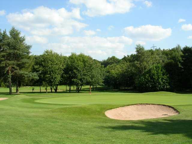 A view of the 3rd green at Druids Heath Golf Club