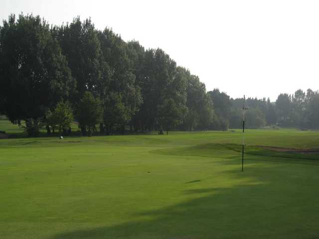 Scenic view of the 9th green at Walsall Golf Club