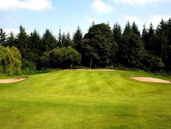 A view of green #3 at Sand Moor Golf Club
