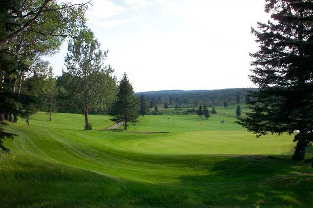 A view of the 7th green at Water Valley Golf and Country Club