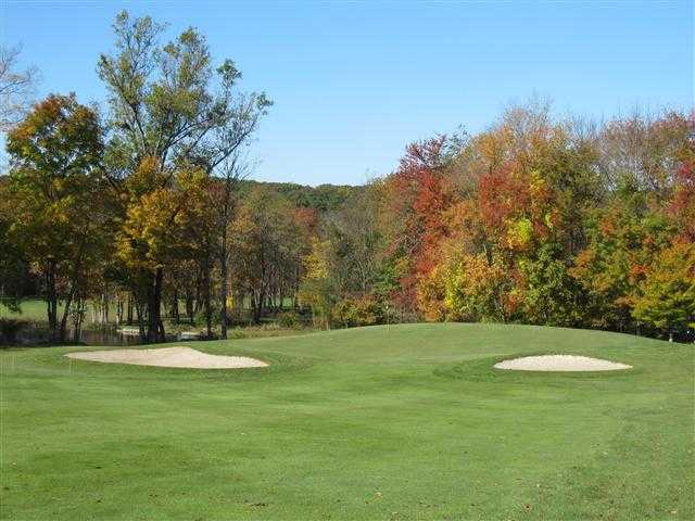 A view of the 1st green at Ridgefield Golf Course