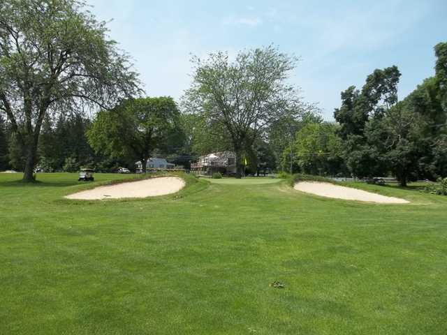 A view of green #9 at Conocodell Golf Club