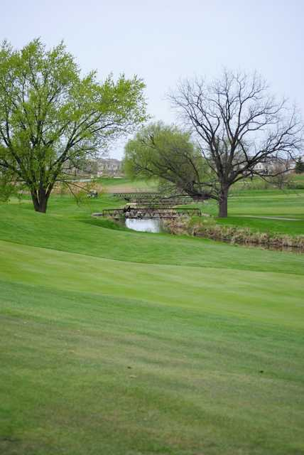 A view from Fellows Creek Golf Course with bridges in the background