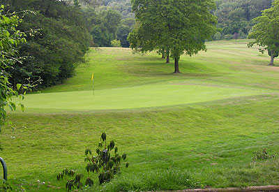 A view of the 2nd green at Llanishen Golf Club