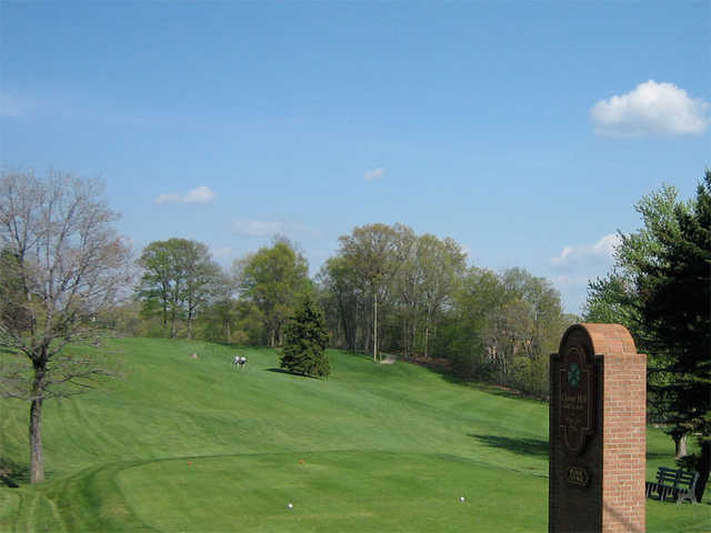 A view of a tee at Clover Hill Golf Course