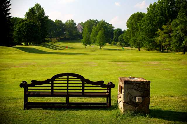 A view of the practice area at Fox Chapel Golf Club