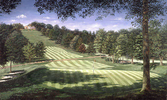A view of a green at Pittsburgh Field Club