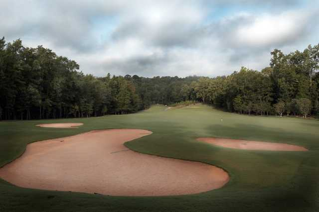 A view of fairway #2 at Moore's Mill Golf Club