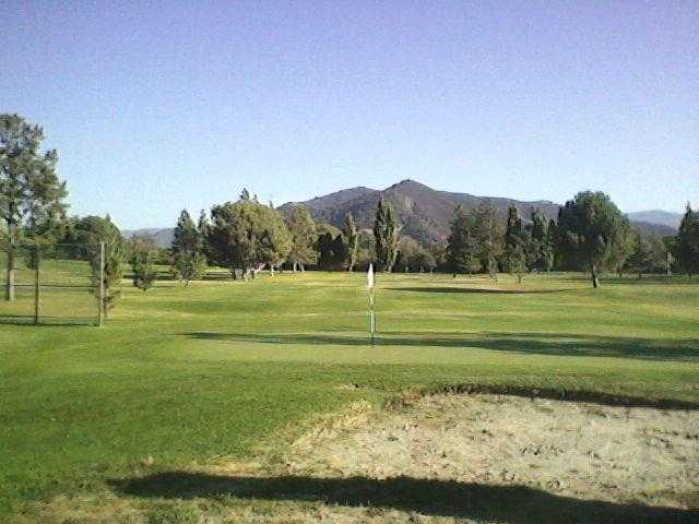 A view of green #9 at Zaca Creek Golf Course