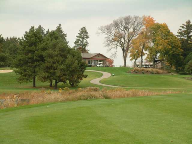 A view of the clubhouse at Groesbeck Golf Course
