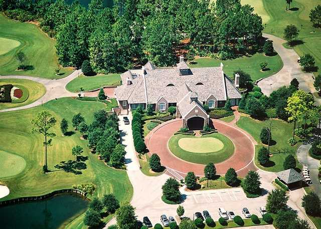 Aerial view of the clubhouse at Glen Kernan Golf & Country Club