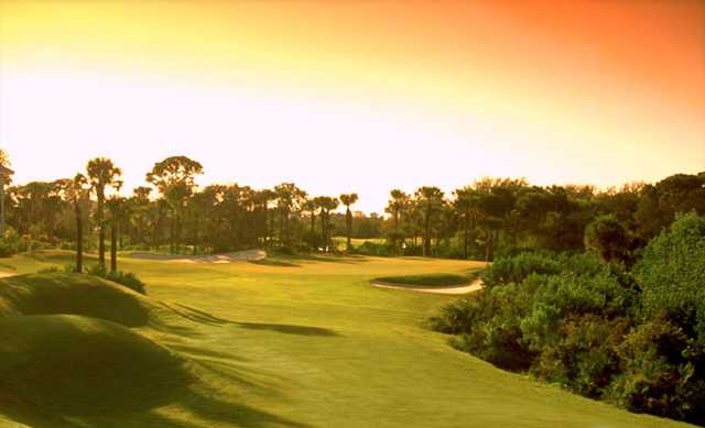 A view of the 18th fairway at Gator Course from Pelican's Nest Golf Club