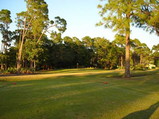 A view from a tee at Fountain Lakes Golf Course