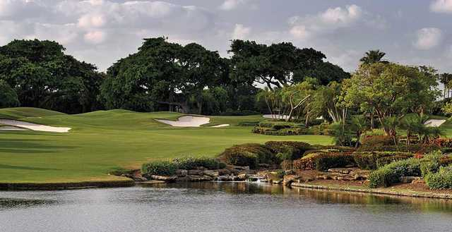 A view over the water of a fairway at Boca Raton Resort & Club.