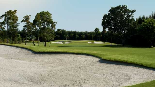 A view of a fairway at Boca Woods Country Club