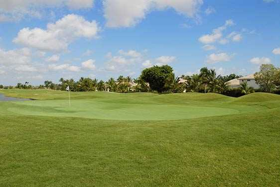 A view of the 1st green at Woodfield Country Club