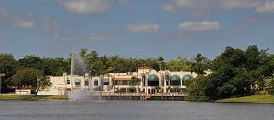 A view of the clubhouse at Pine Island Ridge Country Club