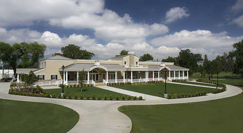 A view of the clubhouse at Kings Country Club