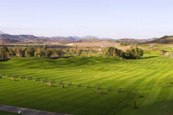 A view of the driving range at Tierra Rejada Golf Club