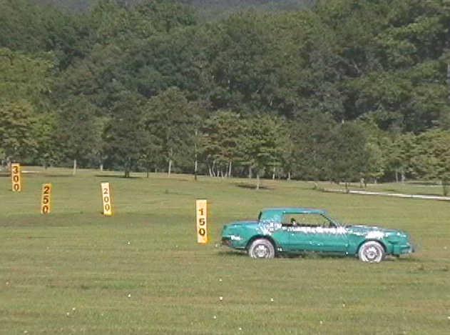 A view of the driving range at 4 Seasons Golf