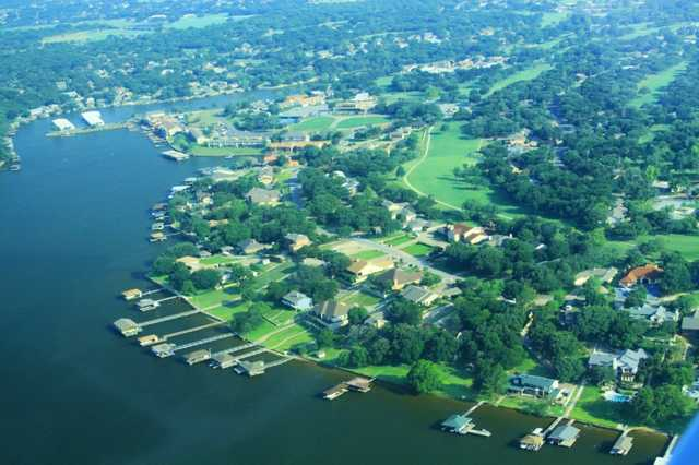 Aerial view from DeCordova Bend Country Club